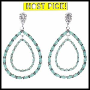 Jewelry - ⭐️ HOST PICK ⭐️ Fancy emerald teardrop earrings